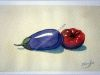 A-24-Berenjena-y-tomate-Lanjaron23x16cm.Acuarela